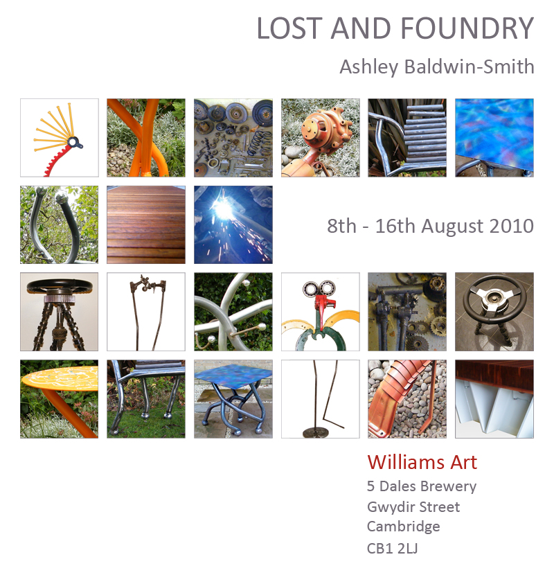 Lost and Foundry sculpture and furniture exhibition Cambridge