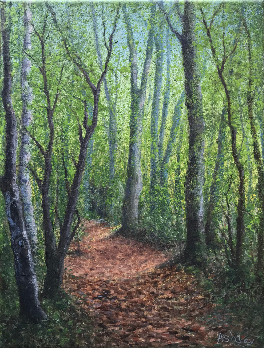Autumn Wandlebury, oil painting