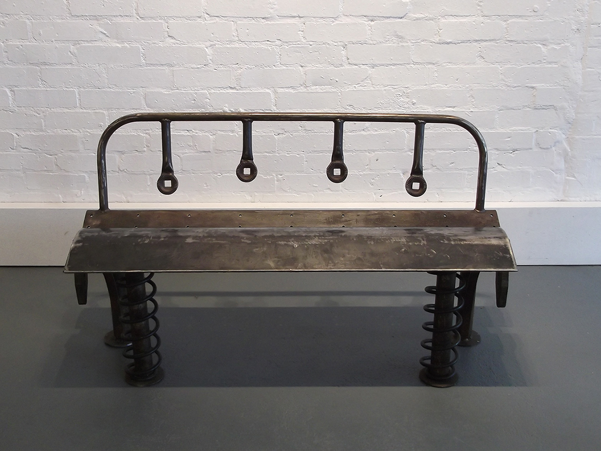 Bomford Bench exhibited at Williams Art Cambridge