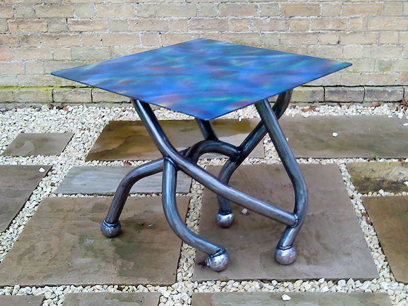 The Boule Table - Sculpted Metal Table