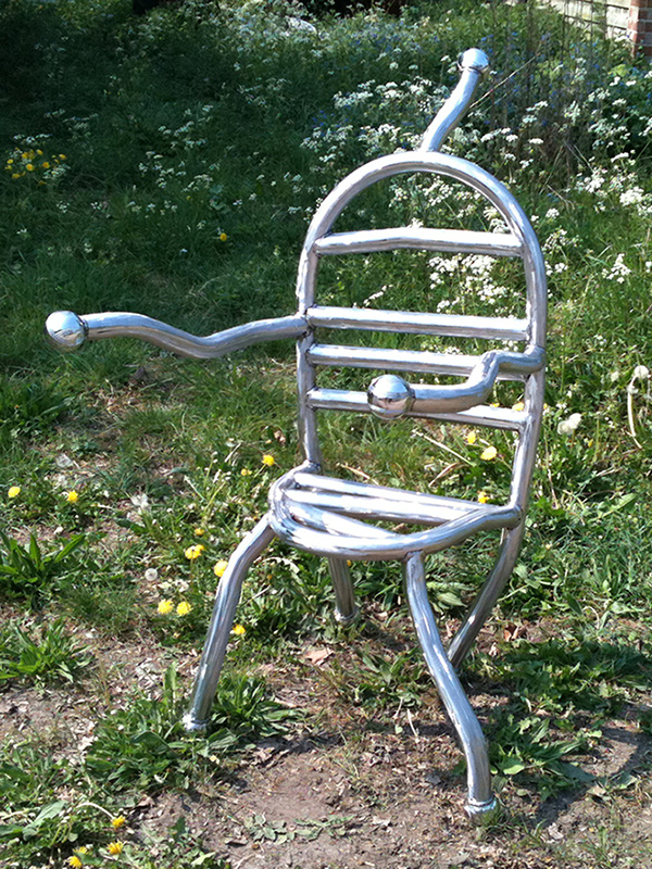 Chair of Reflection - crazy metal chair