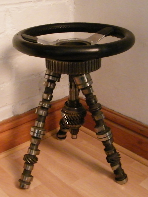 Mini Cooper Stool - Modern metal furniture