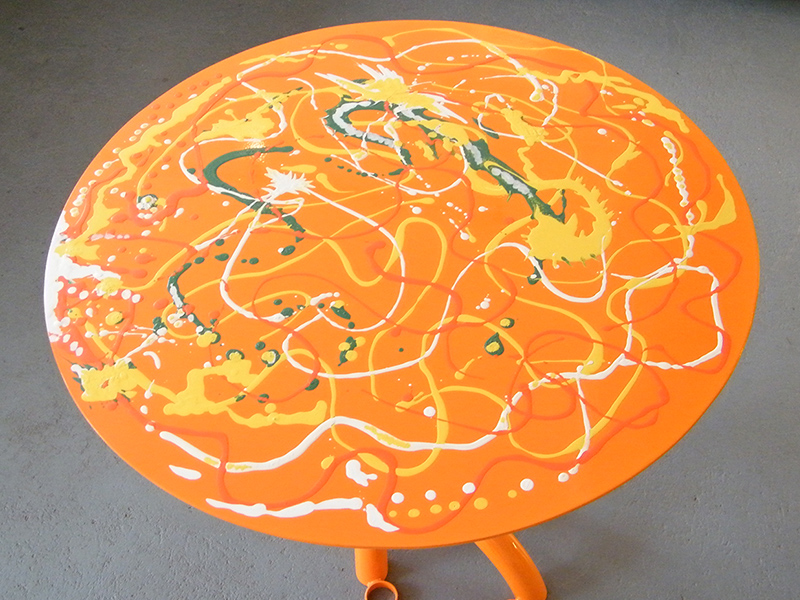 Orange Table viewed in gallery
