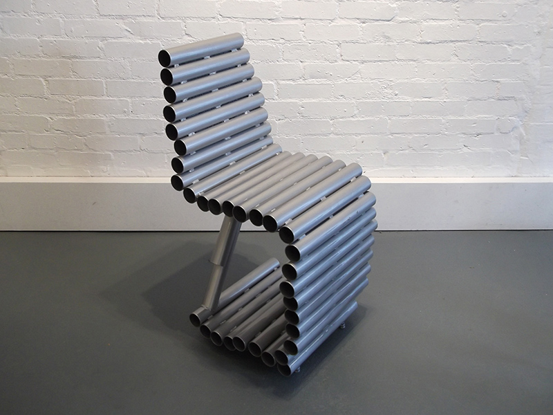 Tube Chair - upcycled welded steel tubes