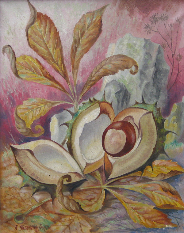 Conker by Kenneth Baldwin-Smith - oil on canvas