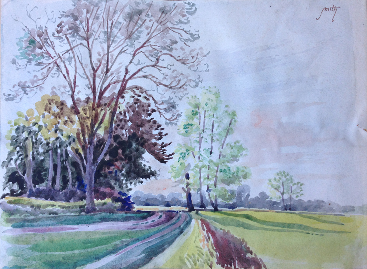 Watercolour landscape by Kenneth Baldwin-Smith ARCA