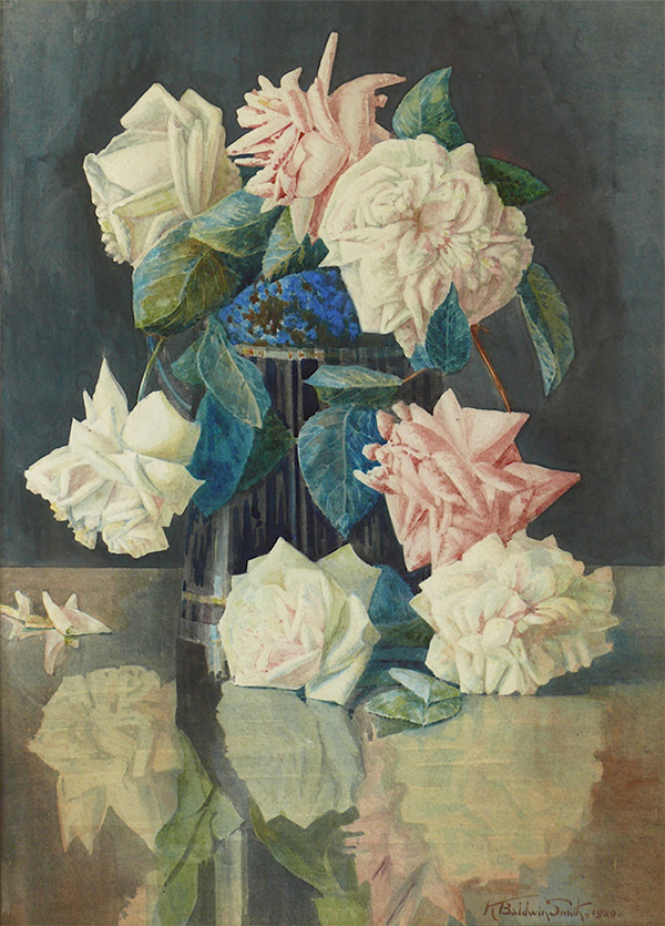 Watercolour - Flowers by K Baldwin-Smith, 1920