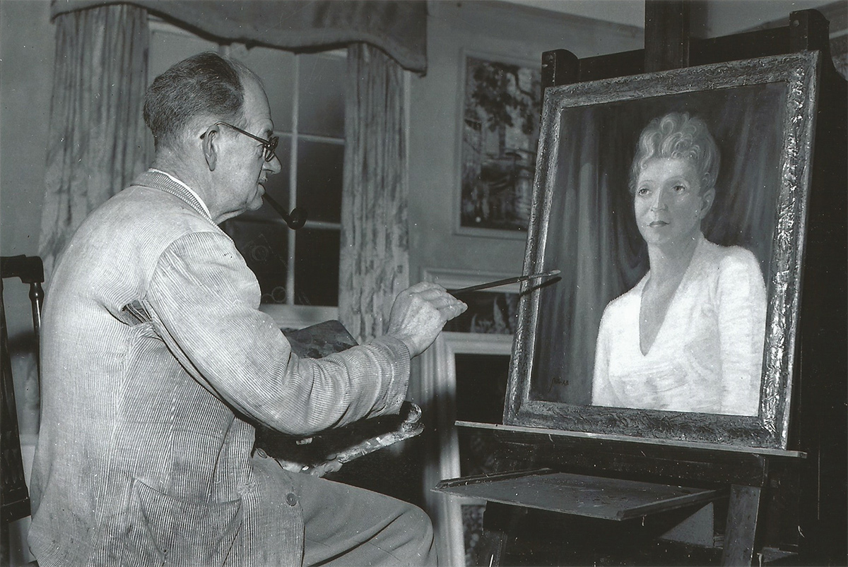 Portrait artist Kenneth Baldwin-Smith featured in the Cambridge Evening News