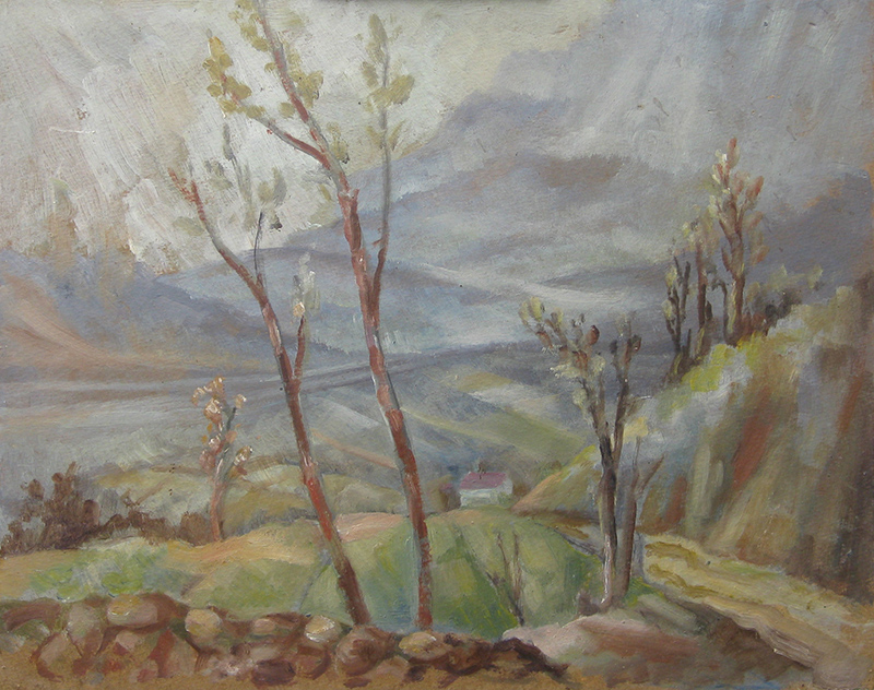 Landscape study by Kenneth Baldwin-Smith ARCA