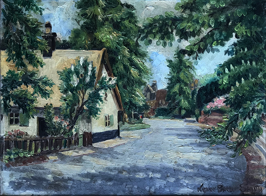 K Baldwin-Smith house and studio in Shelford - Oil on canvas