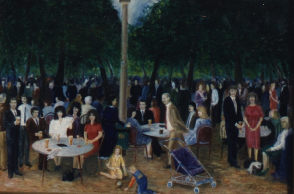 Wedding reception in the park - After Manet