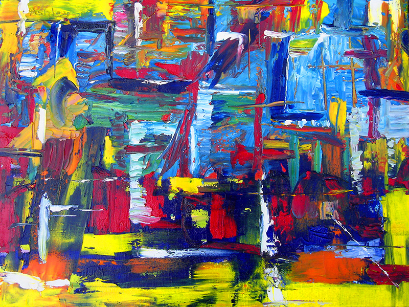 Abstract oil painting - Abstract Windows