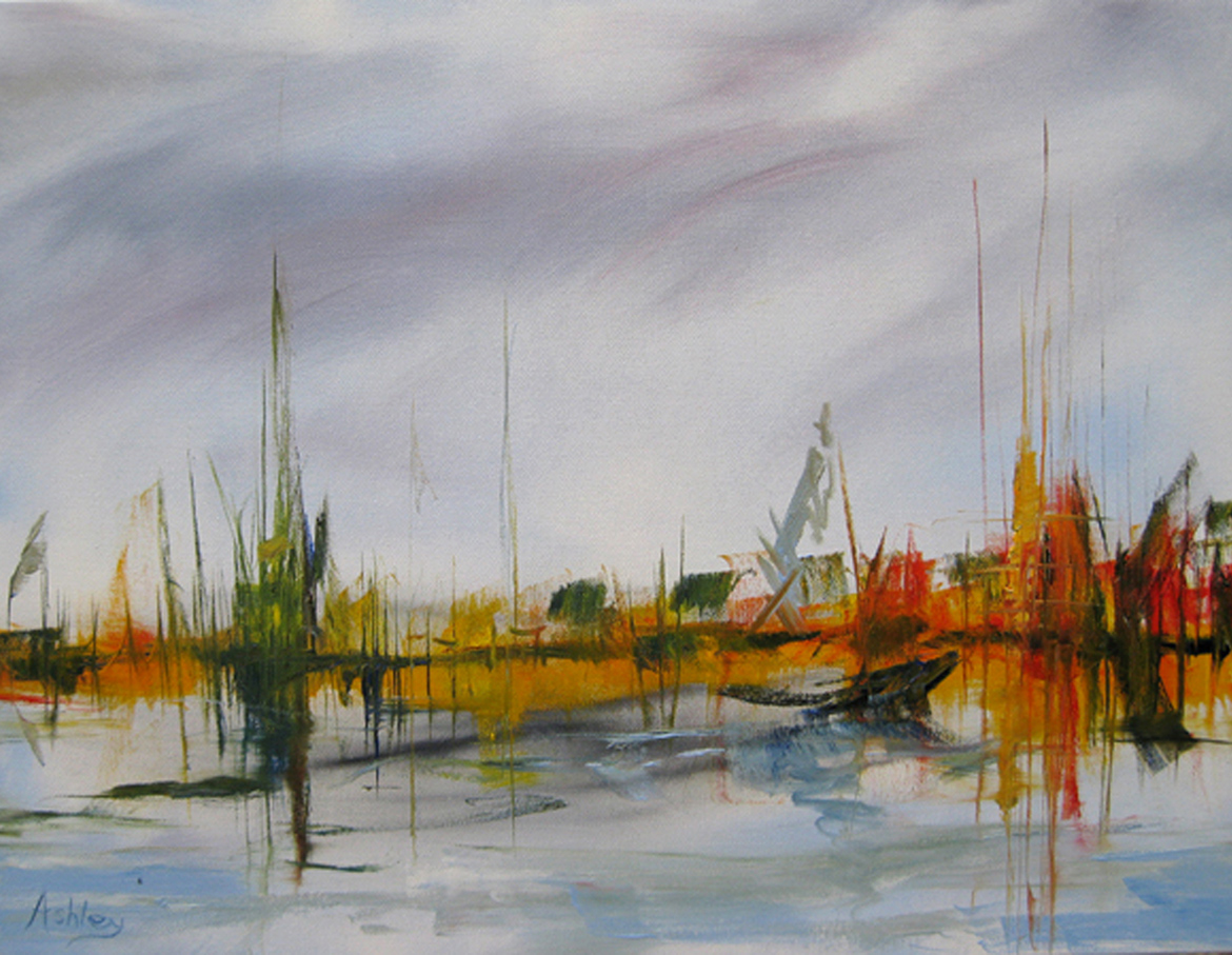 Fenland Landscapes - oil painting
