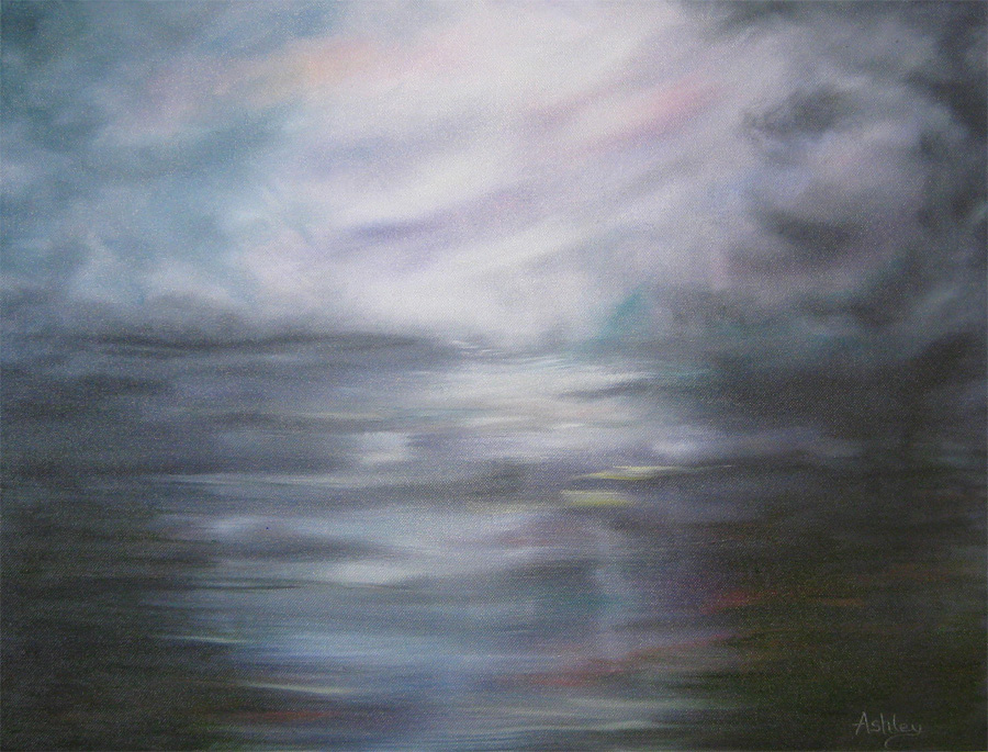 Fen Storm by painter Ashley Baldwin-Smith