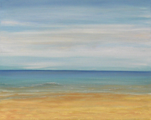 Holkham Beach oil painting