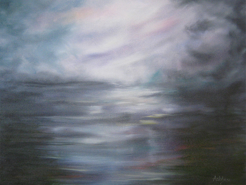 Original oil painting titled Fen Storm