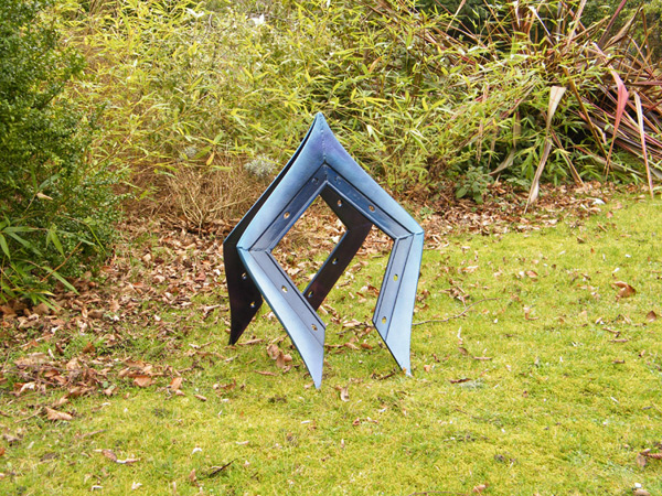 Pax Arva Colat - Metal sculpture created from plough shares