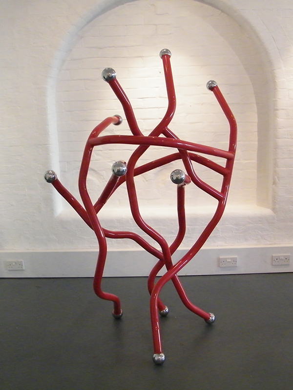 Red Dance - metal sculpture